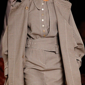 Brown cage print — the most fashionable this Fall