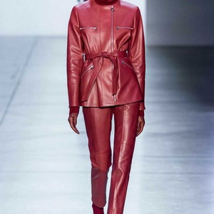 50 shades of red: the most fashionable color for leather items this fall