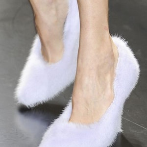 Fluffy shoes — a warm trend of the coming Autumn