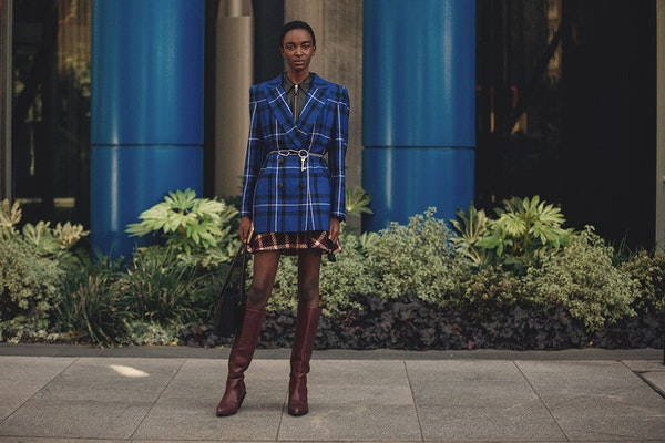 What to combine with checkered jackets this Fall