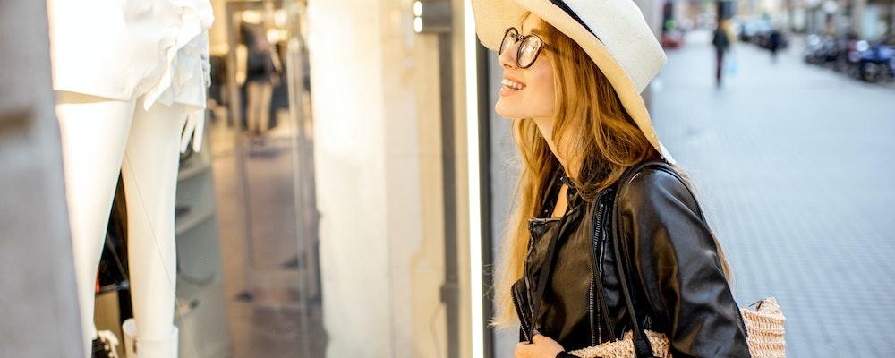Girlfriend's shopping trip in Barcelona