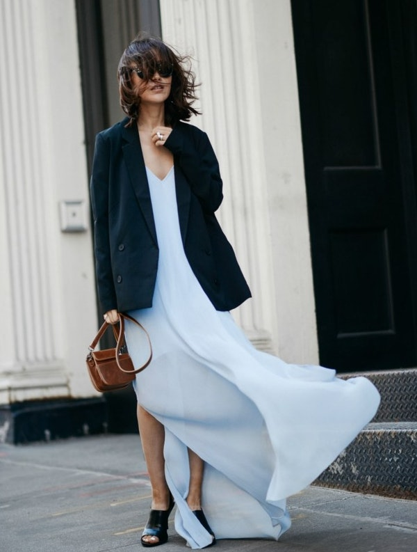 How to wear thin and light summer dresses in Autumn and Winter