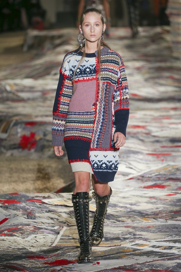 An unusual trend this season - patchwork-style clothing