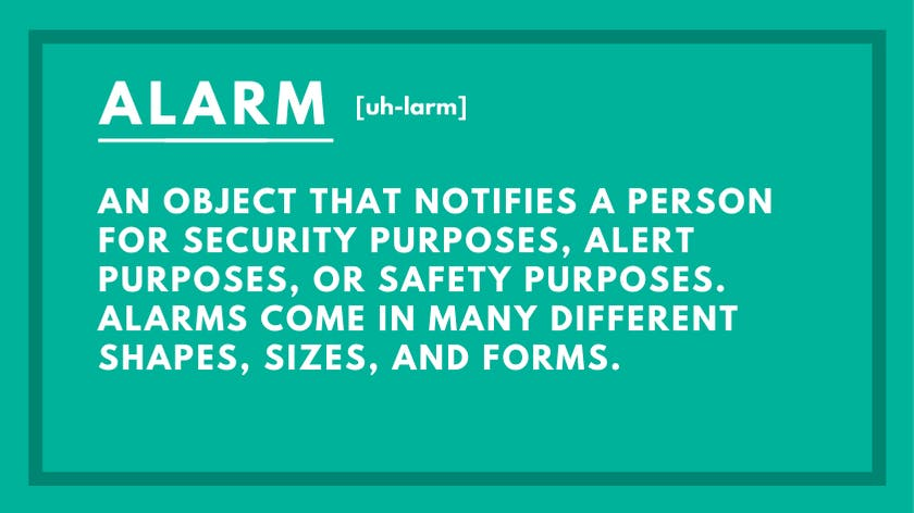 Alarm Definition and What Counts as an Alarm?