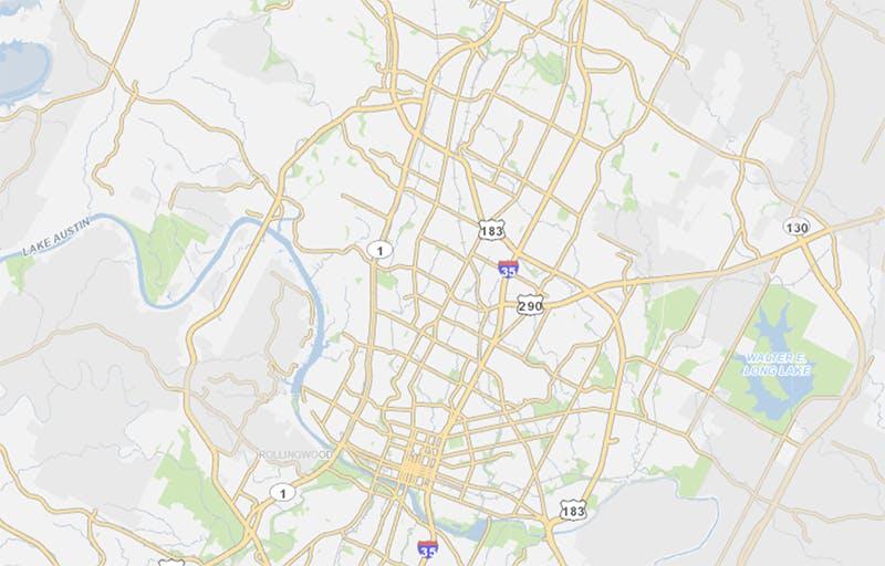 Austin Flood Map