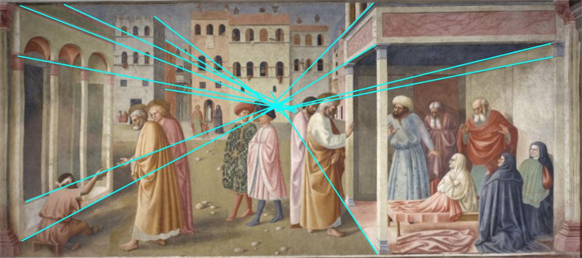 The Healing of the Cripple and Raising of Tabitha, Masolino