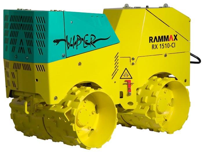 grabenwalze rammax 1510 cl von der seite