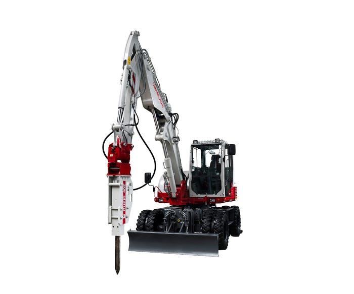 bagger takeuchi tb295w mit hydraulikhammer