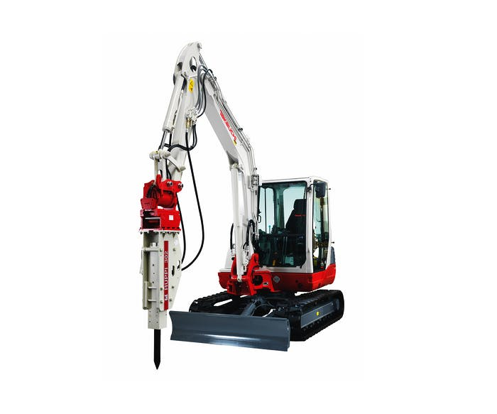 bagger takeuchi tb145 mit hydraulikhammer