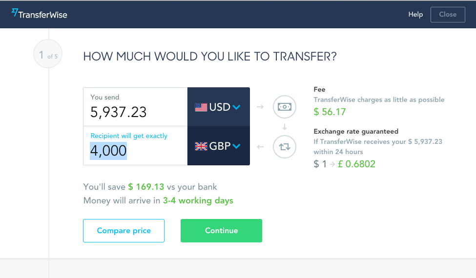 By Doing This Transferwise Will Lock The Payment Total So That Exact Gbp Is Transferred