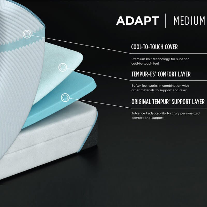 Tempur-PEDIC Adapt Medium side view