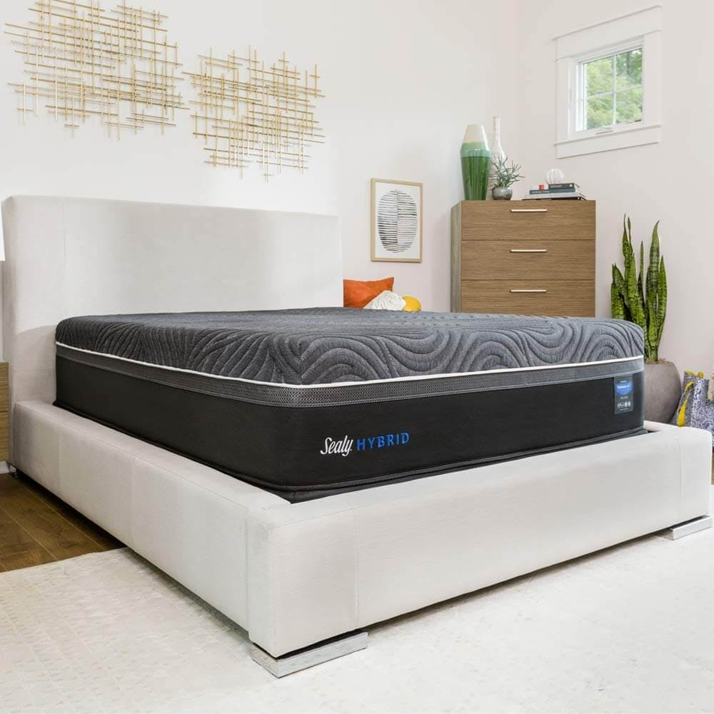 Sealy Hybrid Premium Gold Chill Ultra Plush side view