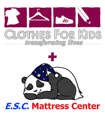 Cothes for kids and E.S.C Mattress Center working together