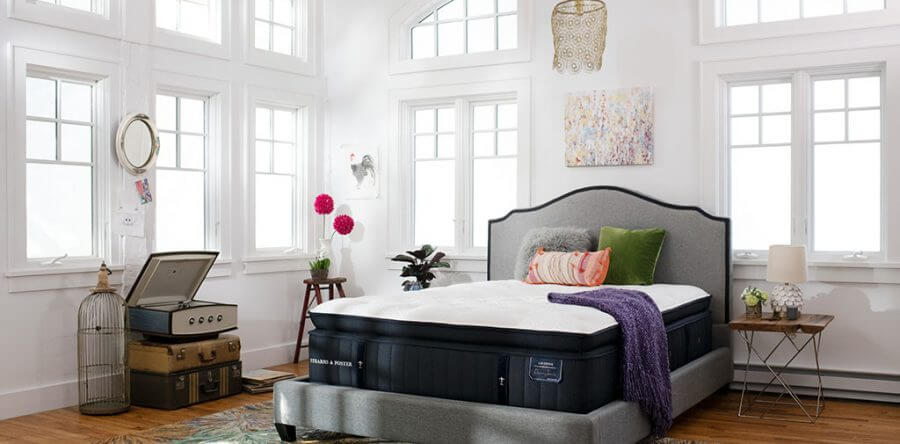 A Stearns and Foster mattress in bedroom