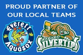 Proud sponsors of the Everett Aquasox's a local baseball team