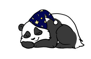 E. S. C. Mattress Center logo of a sleeping panda. Just like the one above our mattress store in Everett, WA