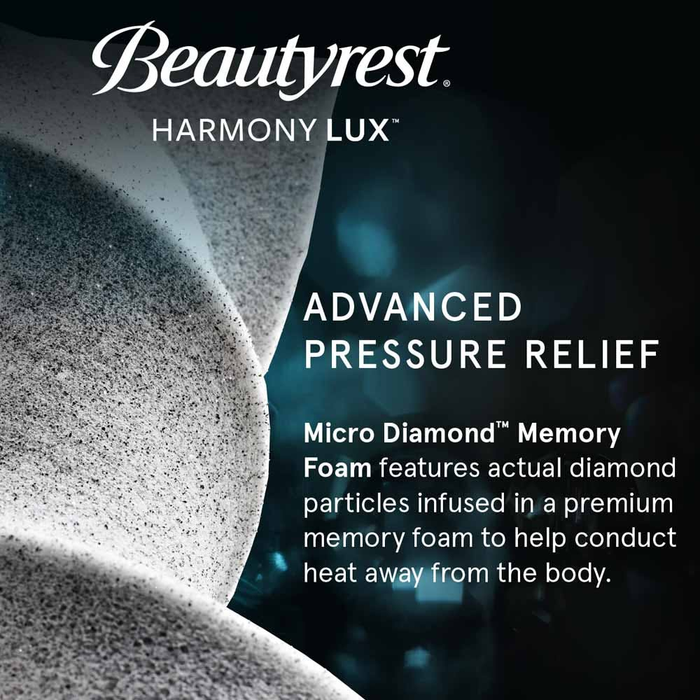 Beautyrest Harmony Lux Diamond Series Medium view from the side