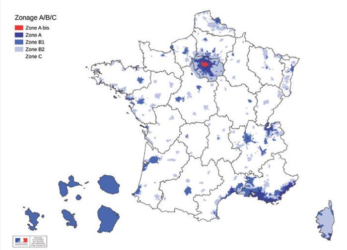 Carte des villes validéese en Loi Pinel