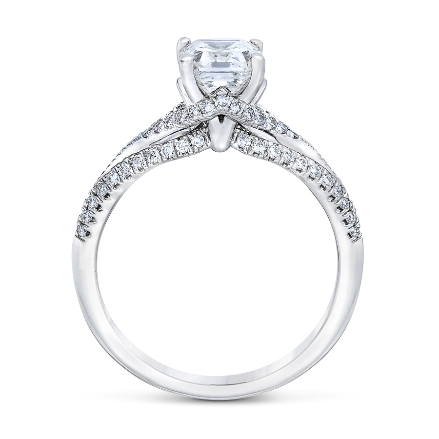 Royal Asscher Cut - Adela diamond engagement ring side 1