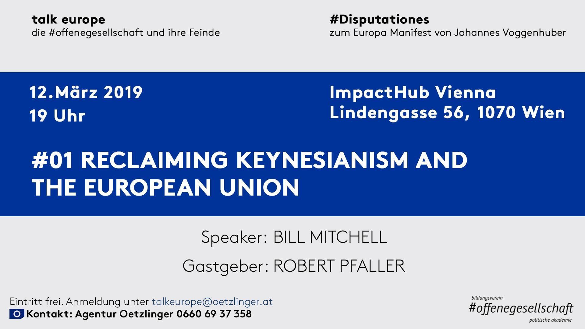 talk europe: Reclaiming Keynesianism and The European Union