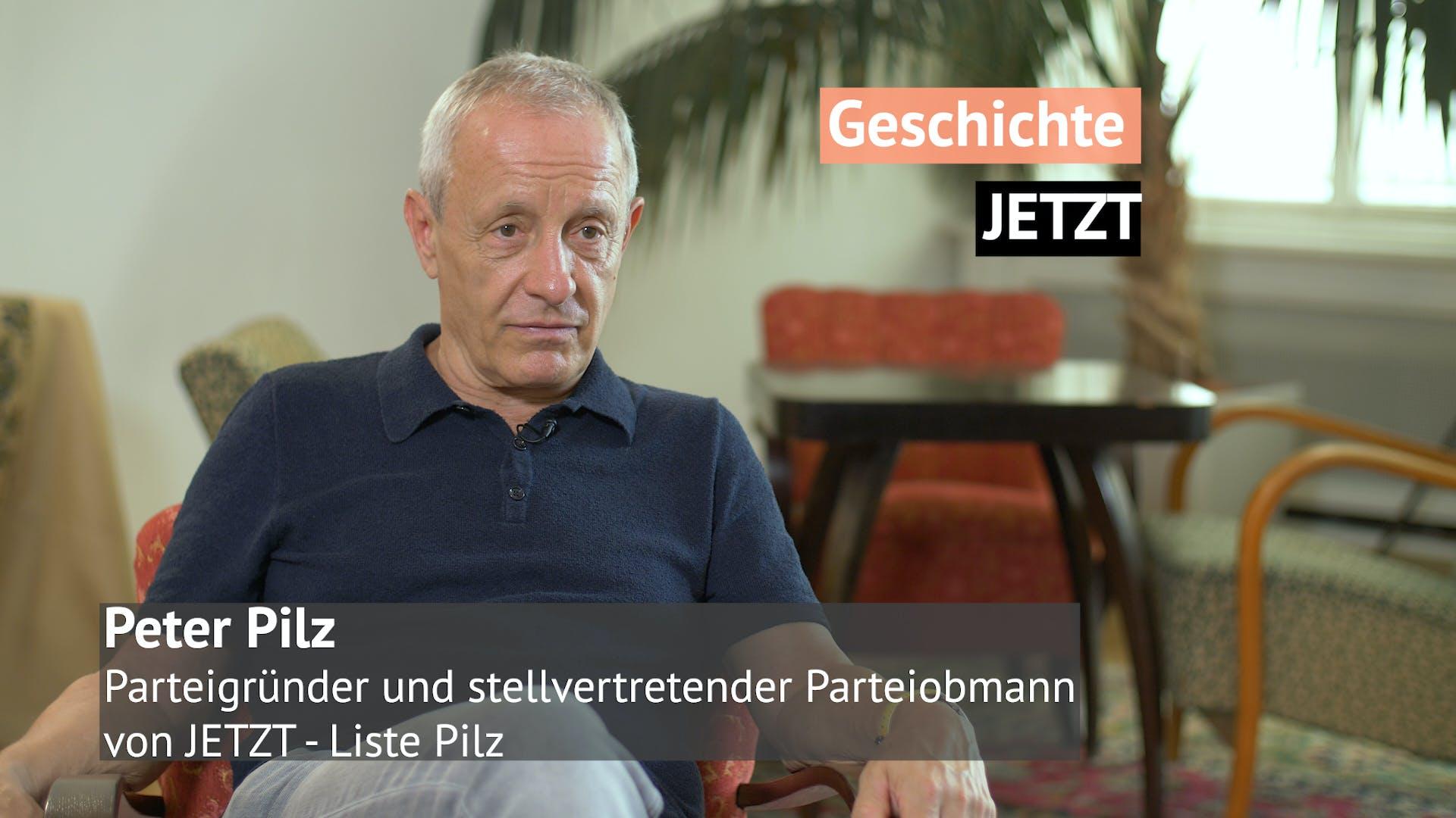 Geschichte JETZT Interview mit Peter Pilz
