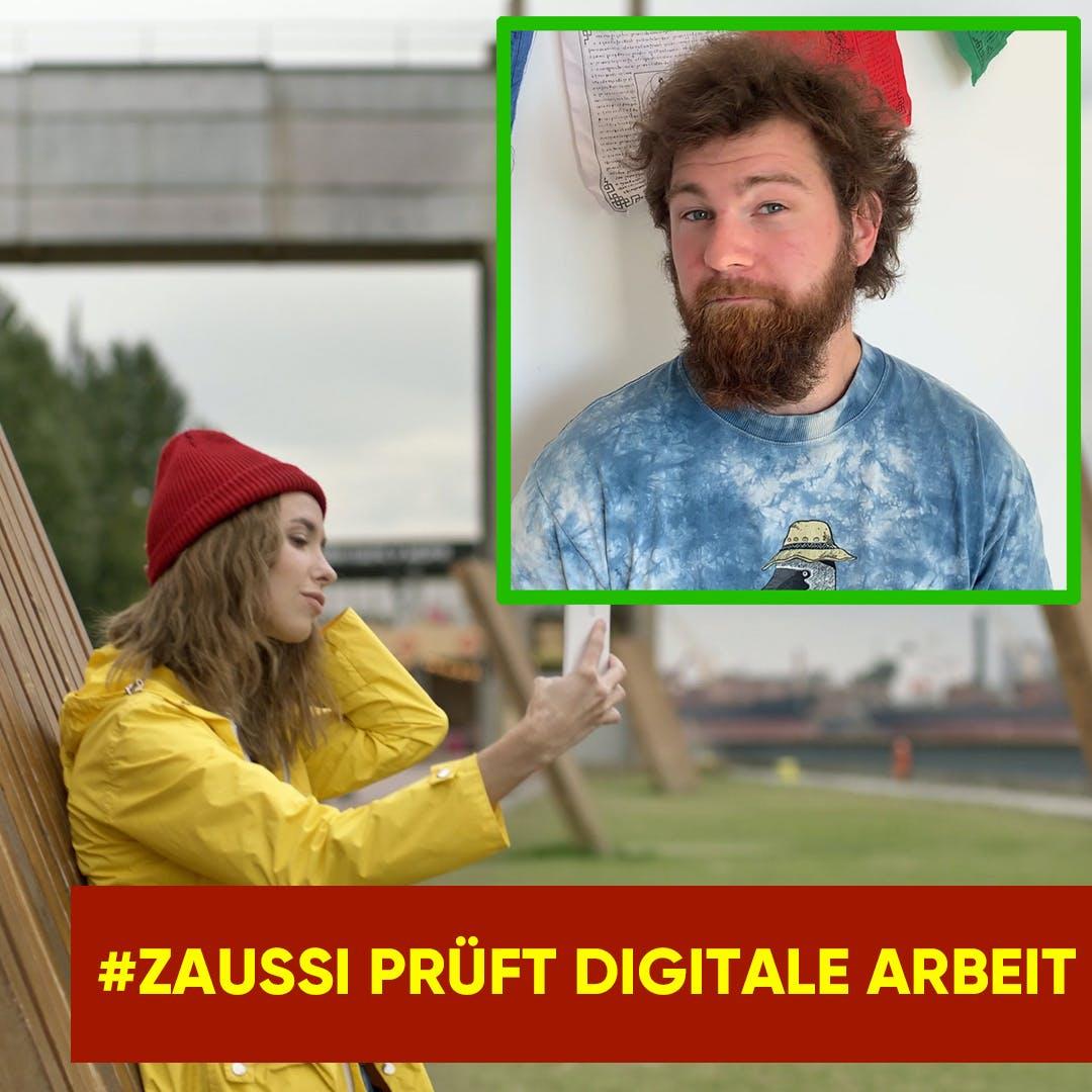 Zaussi prüft digitale Arbeit