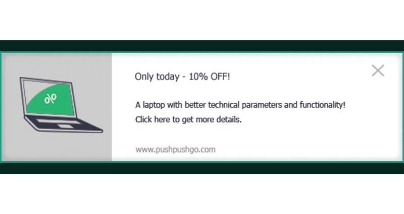Web push - upselling