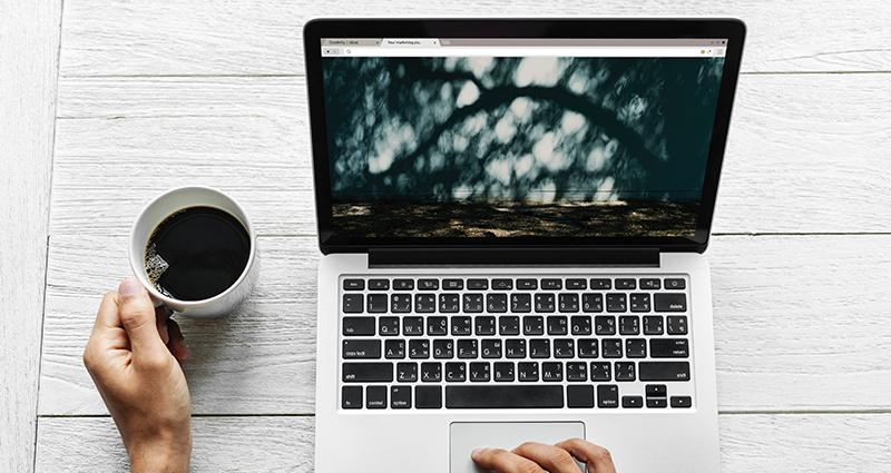 Lead nurturing online. Man generates leads on the computer