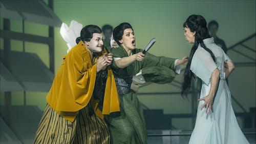 Madama Butterfly | Josef Moravec, Lenka Čermáková, Maria Kobielska - foto: Patrik Borecký