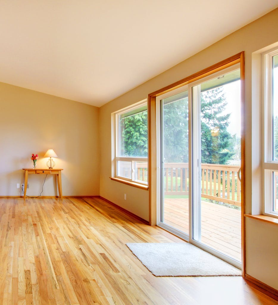 Residential sliding glass door.