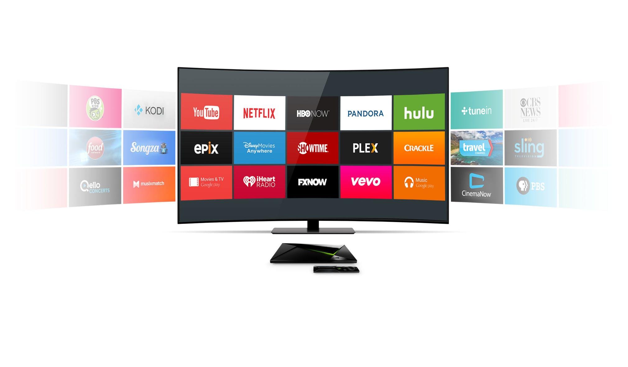 Bild på olika streaming tjänster