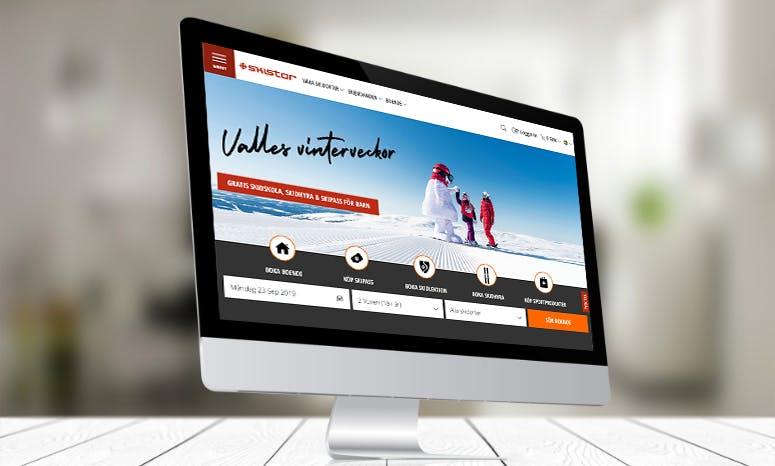 Screenshot på Skistars hemsida