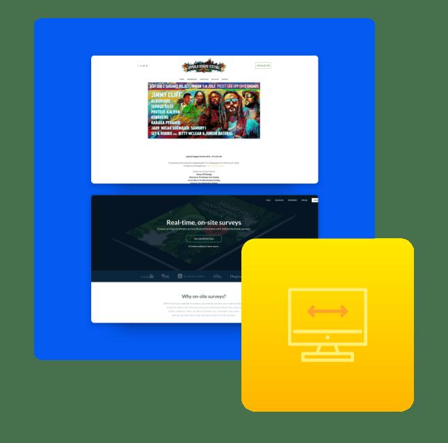 Vi utvecklar både enkla och avancerade webbsidor