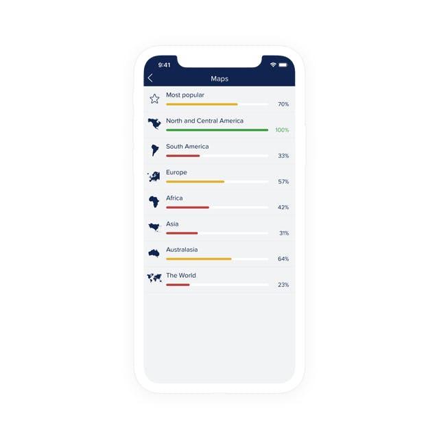Seterras app på en smartphone