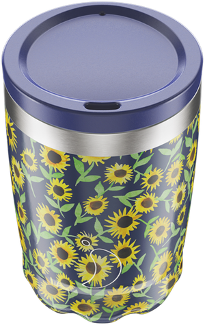 Chilly's Flower Sunflower Coffee Cup | Reusable Coffee Cups
