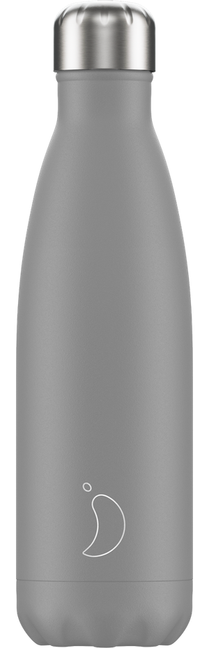 Chilly's Bottles Monochrome Grey | Reusable Water Bottles