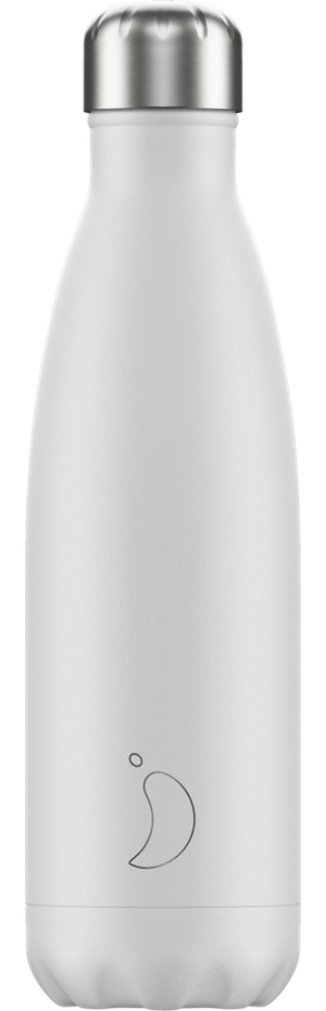 Chilly's Bottles Monochrome White | Reusable Water Bottles