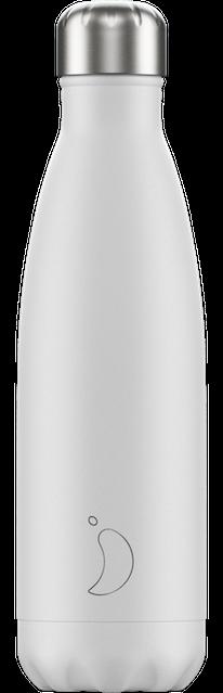 Chilly's Bottles Monochrome White | Reusable Water Bottles