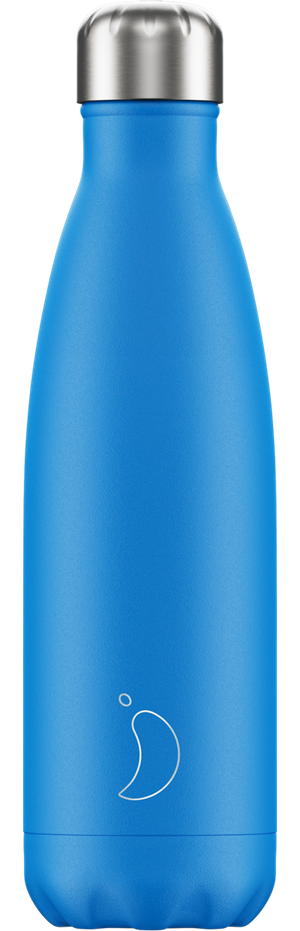 Neon Blue Chilly's Bottle | Reusable Water Bottles