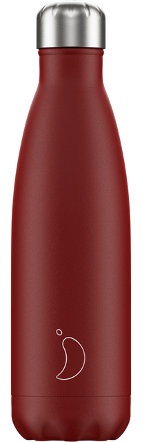 Chilly's Bottles Matte Red | Reusable Water Bottles
