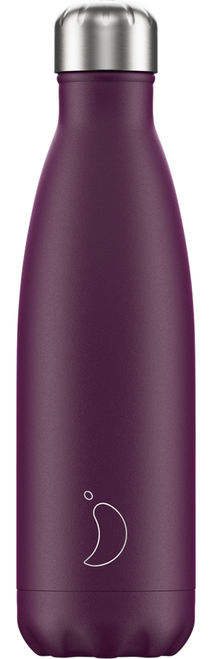 Chilly's Bottles Matte Purple | Reusable Water Bottles