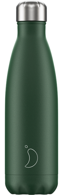 Chilly's Bottles Matte Green | Reusable Water Bottles