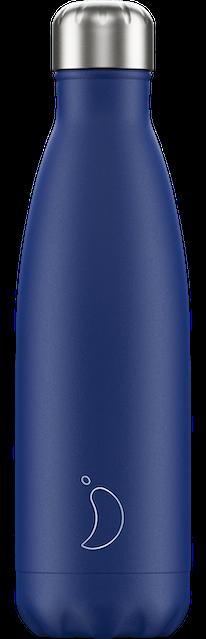 500ml Matte Blue Chilly's Bottle | Reusable Water Bottles