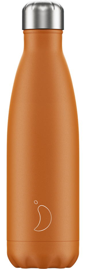 Chilly's Bottles Matte Orange | Reusable Water Bottles