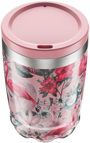 Chilly's Tropical Flamingo Coffee Cup | Reusable Coffee Cups