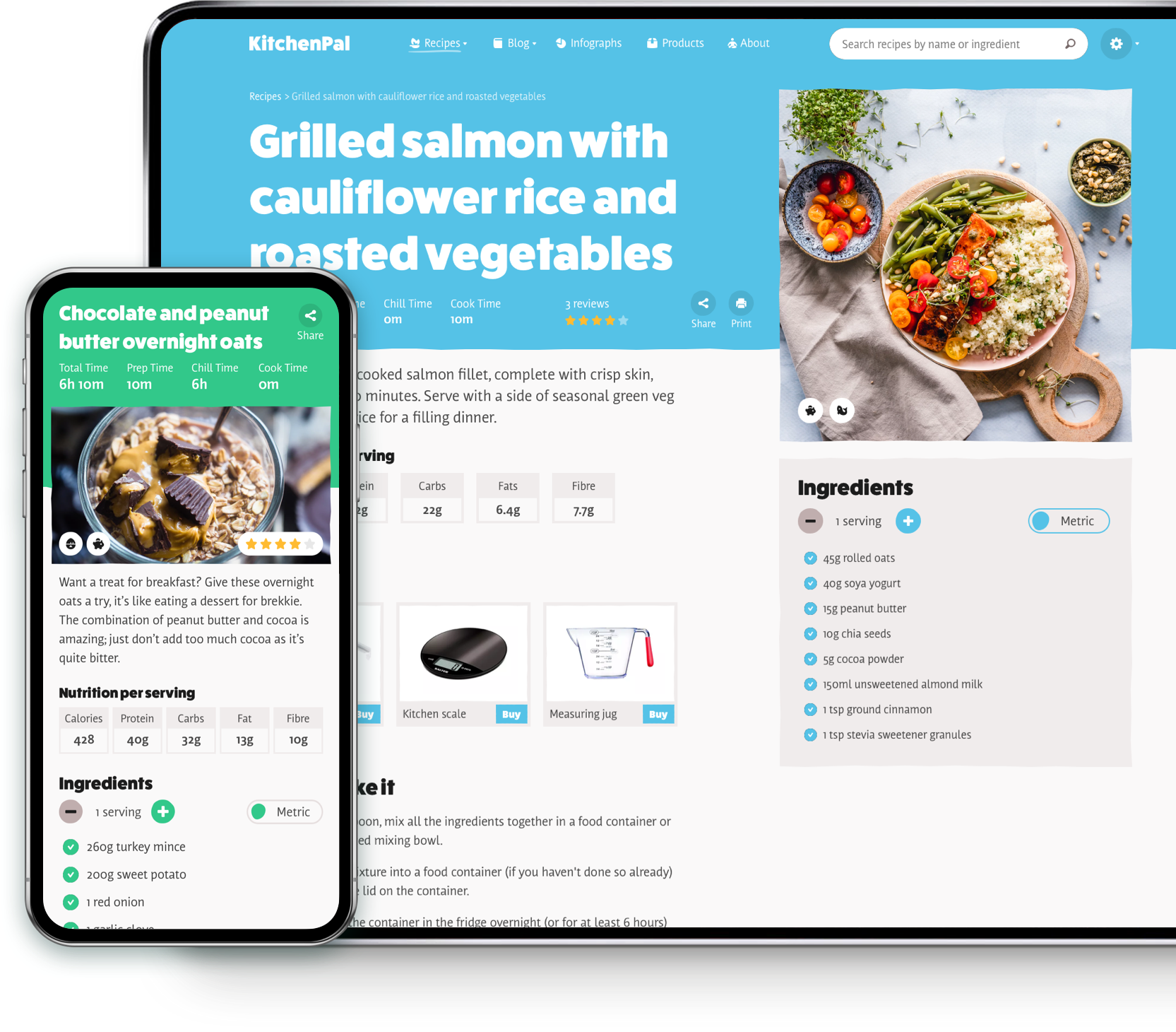 KitchenPal desktop and mobile website design