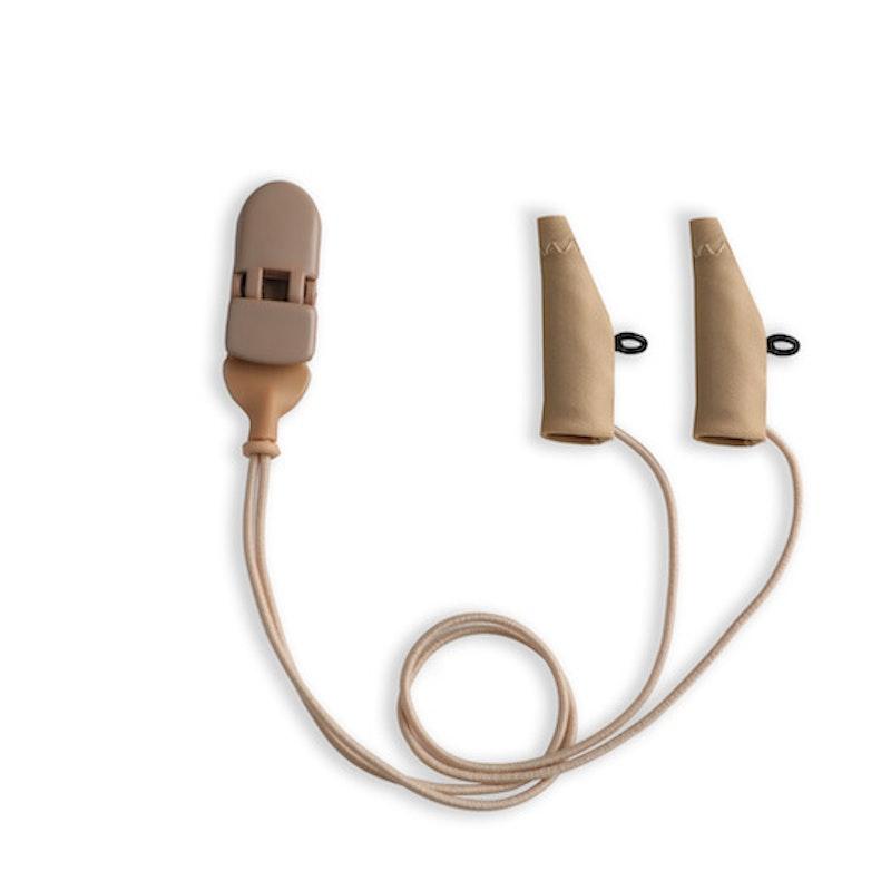 Ear Gear Mini Corded Eyeglasses Beige