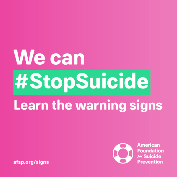 We can #stopsuicide