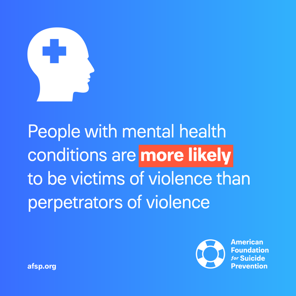 People with mental health conditions are more likely to be victims of violence
