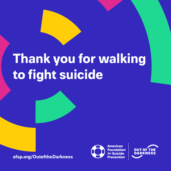 Thank you for walking to fight suicide